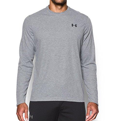 Black Heather Arch T-shirt - Under Armour Men's ColdGear Infrared Lightweight T-Shirt, True Gray Heather/Black, Small