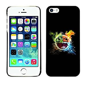 LECELL -- Funda protectora / Cubierta / Piel For Apple iPhone 5 / 5S -- Awesome Smiley Blast --