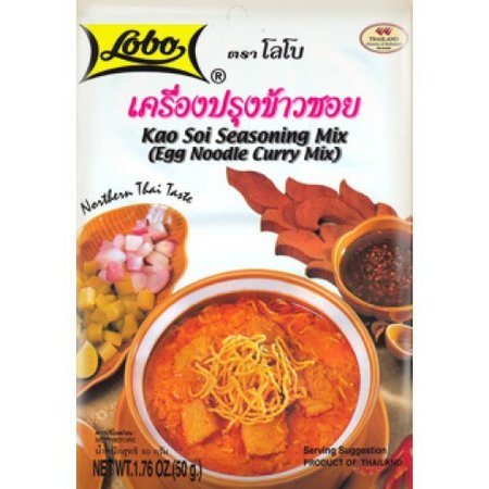 Lobo Brand Thai Kao Soi Seasoning Mix, Egg Noodle Curry Mix 1.76 Oz