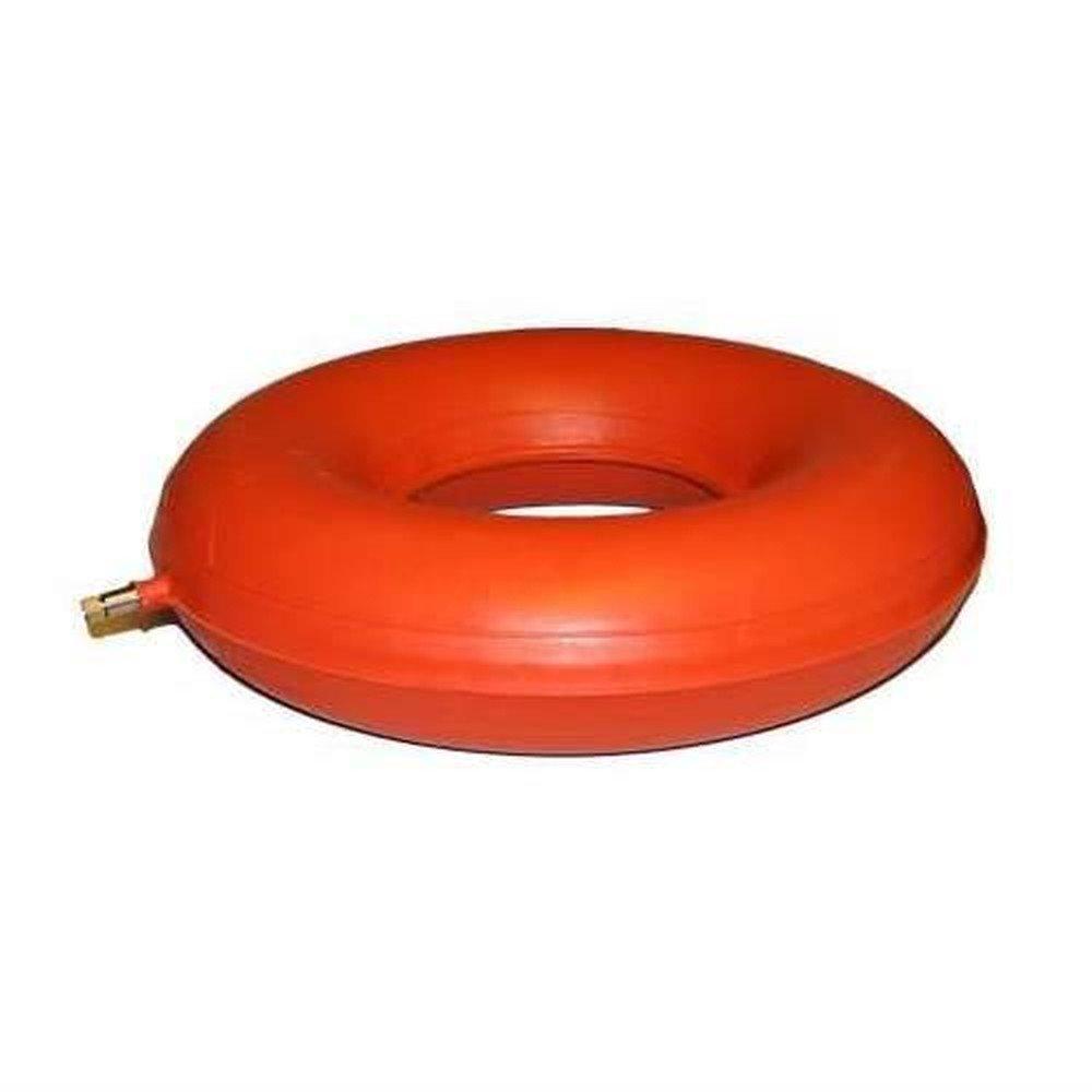 Sitzring Gummi aufblasbar- 40 cm Durchmesser - rot/orange - Sitzkissen gegen Beschwerden bei Dekubitus, Hämorrhoiden, Rückenschmerzen und zur Steißbein Entlastung Hämorrhoiden CareLiv Produkte OHG