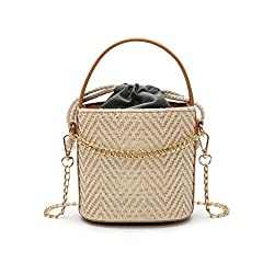 Women Straw Bags Summer Beach Handbag Casual Female Shoulder Bag Vintage Rattan Bag Handmade Travel Bags S1488