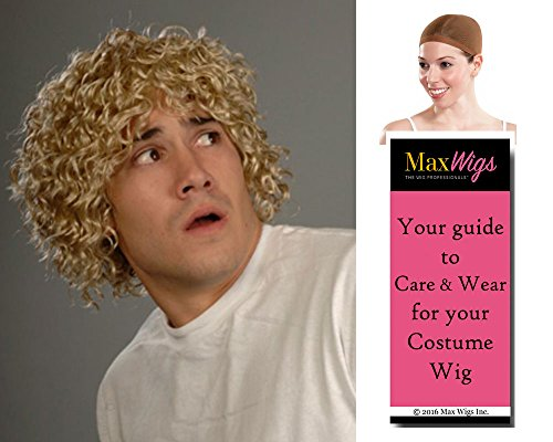 Hob Bilbo Color Dark Blonde - Enigma Wigs Mens Rings Curly Mop Lord Style Bundle w/Cap, MaxWigs Costume Wig Care Guide]()