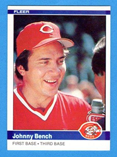 Johnny Bench 1984 Fleer Baseball ***Last Fleer Card*** (Hall of Fame) (Reds)