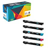 Do it Wiser Compatible Toner Cartridges Pack For Xerox Phaser 7500 7500N 7500DN 7500YDN 7500DT 7500YD - 106R01439 106R01436 106R01437 106R01438 - (5 Pack)