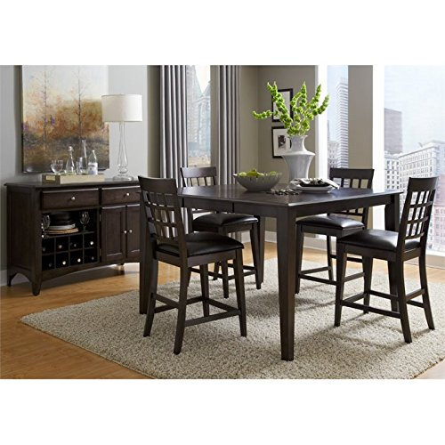 A-America Bristol Point 6 Piece Counter Height Dining Set in Warm Gray