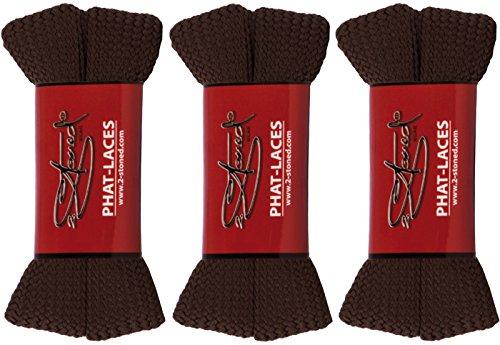Original 2stoned Phat Laces Schnürsenkel 120cm lang und 3cm breit in 14 Farben Braun