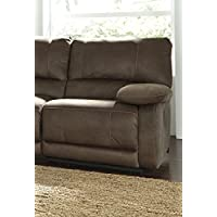 Ashley Furniture Signature Design - Seamus Right Arm Facing Recliner - 1 Touch Powered Reclining - Contemporary - Taupe
