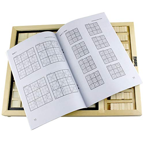 eroute66 Wooden Sudoku Chess Digits 1 to 9 Desktop Games Adult Kids Puzzle Education Toys by eroute66 (Image #3)