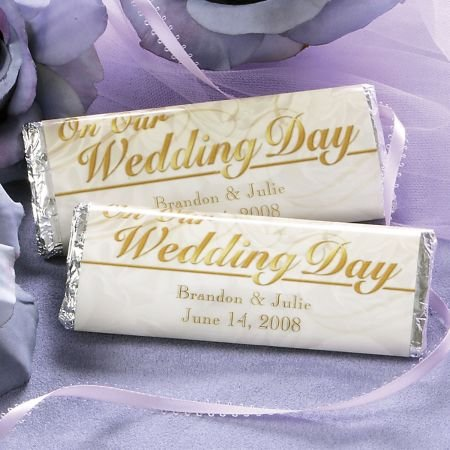 (Personalized Wedding Candy Bar Wrappers- Set of 24 )
