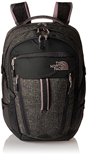 The North Face Surge Backpack Womens Asphalt Grey Heather/Quail Grey by The North Face