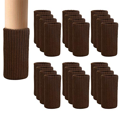(24 PCS Chair Leg Socks Knitted Elastic Furniture Leg Socks - Chair Leg Floor Protectors for Avoid Scratches - Coffee Furniture Booties Covers for Moving Easily and Reduce Noise )