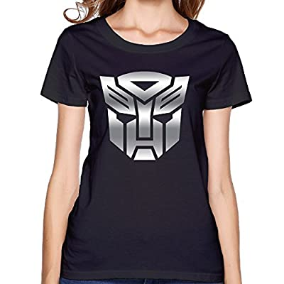 Women's Transformers Autobot Platinum Logo Short-sleeve T-shirt Black