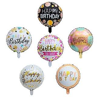 "Happy Birthday Round Foil Balloons 30Pcs/set 18"" Birthday Mylar Helium Balloon Floating, Letter Balloon Party Decorations Supplies"