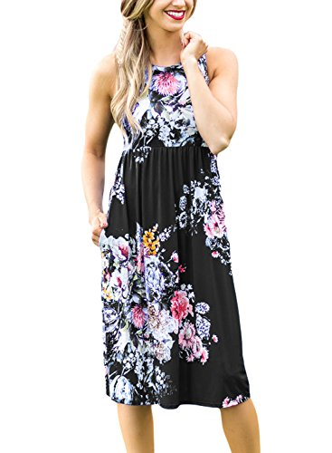 Dokotoo Womens Summer Casual Floral Print Midi Dresses (s-xl) Icon