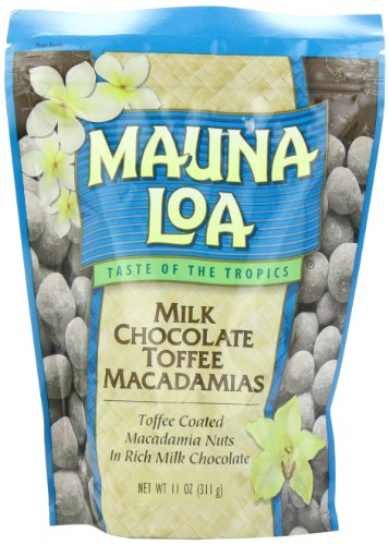 Mauna Loa Macadamias, Milk Chocolate Toffee, 11-Ounce Packages