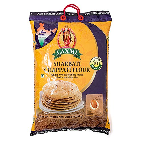 - Laxmi All-Natural Whole Wheat Sharbati Chappati Flour - 10lb