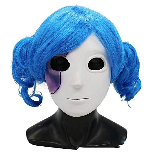 XLCWL Mask Halloween Dress Ball Mask Set Sally Face Playful Facial Hairstyle + Mask Two-Piece Role-Playing Makeup Party