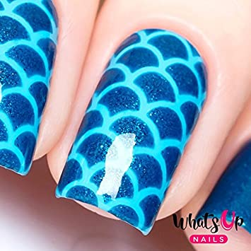 Amazon Whats Up Nails Scales Mermaid Vinyl Stencils For Nail