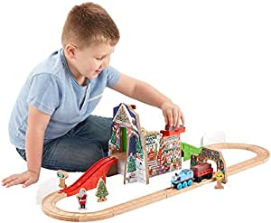 Fisher-Price Thomas & Friends Wooden Railway Santa's Workshop Express Playset [Amazon Exclusive]