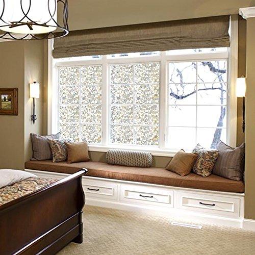 window treatments window film 3d static privacy decoration self adhesive for uv blocking heat. Black Bedroom Furniture Sets. Home Design Ideas