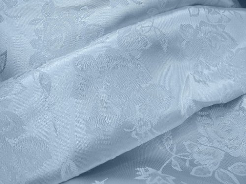 1 X Brocade Jacquard Satin Light Blue 60 Inch Fabric By the Yard from The Fabric Exchange