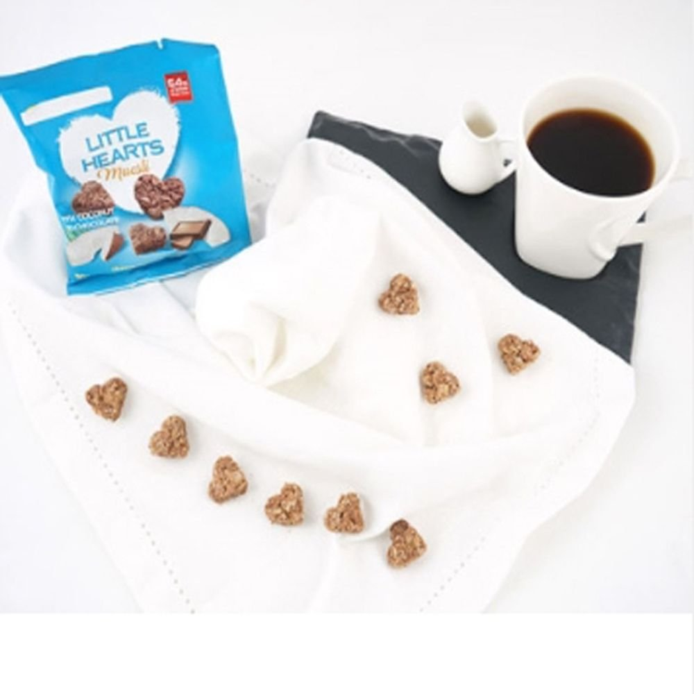 Little hearts muesli coconut and chocolate 50gx10 oat coconut content