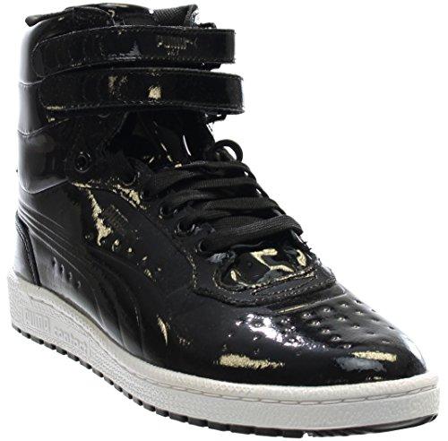 Patent Mens Sneakers (PUMA Men's Sky II Hi Patent Emboss Fashion Sneaker, Black, 8.5 M US)