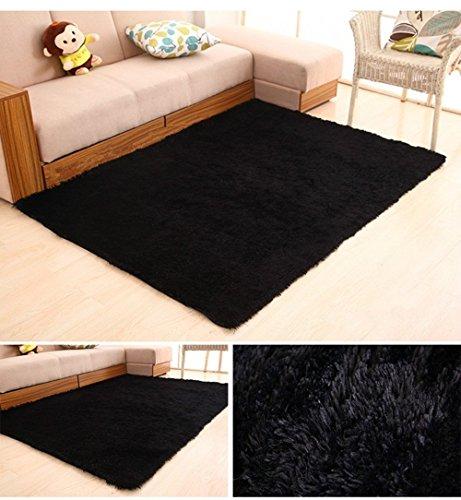 huahoo super soft indoor modern shag area silky rugs dining room living room bedroom rug baby. Black Bedroom Furniture Sets. Home Design Ideas