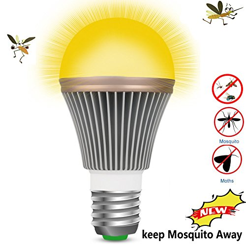 OSIDU Mosquitoes Repellent Light - LED Bug Light Bulb Outdoor Mosquitoes Flies Bugs Repellent Porch Light Bulb Indoor LED Warm Lamp Home Pest Control for Garden Patio Deck Lawn Farm E26 E27 110V 5W