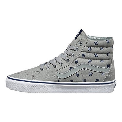 Vans Unisex Sk8-Hi MLB Skate Shoes-New York Yankees/Gry-12.5-Women/11-Men by Vans (Image #1)