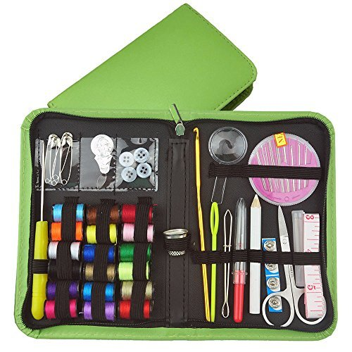 Mini Sewing Kit ,The Basic Sewing kit Includes Thread Needles and Accessories Perfect for Beginners Kids Adults Students Travel Home and Emergency Repair Use.(Green)