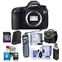 Canon 5DS R DSLR Camera Body - Bundle with Camera Bag, 64GB Class 10 SDXC Card, Cleaning Kit, SD Card Reader, Screen Protector, Remote Shutter Trigger, Spare Battery, Pro Software Package