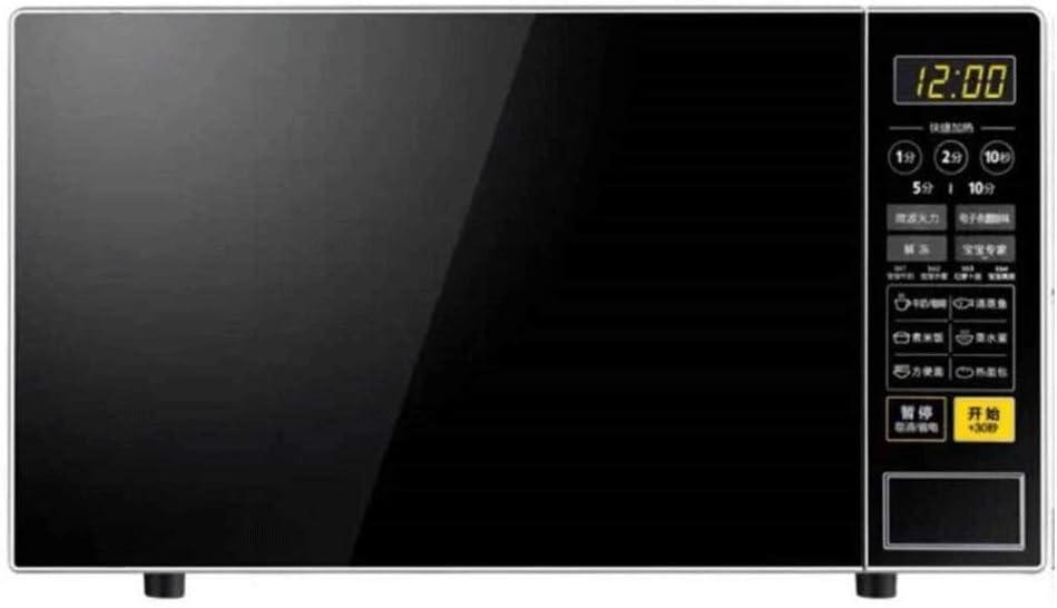 WCJ Horno microondas con Sensor Inteligente, Easy Clean Interior, Modo Eco y Sonido de Encendido/Apagado, 21L, 700W, Negro de Acero Inoxidable, for cocinar al Vapor/Calefacción/ebullición.