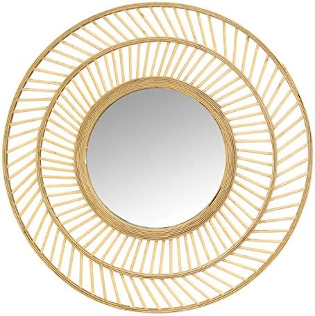 Stratton Home D cor Stratton Home Decor 31.50 Kristen Rattan Wall Mirror, Natural