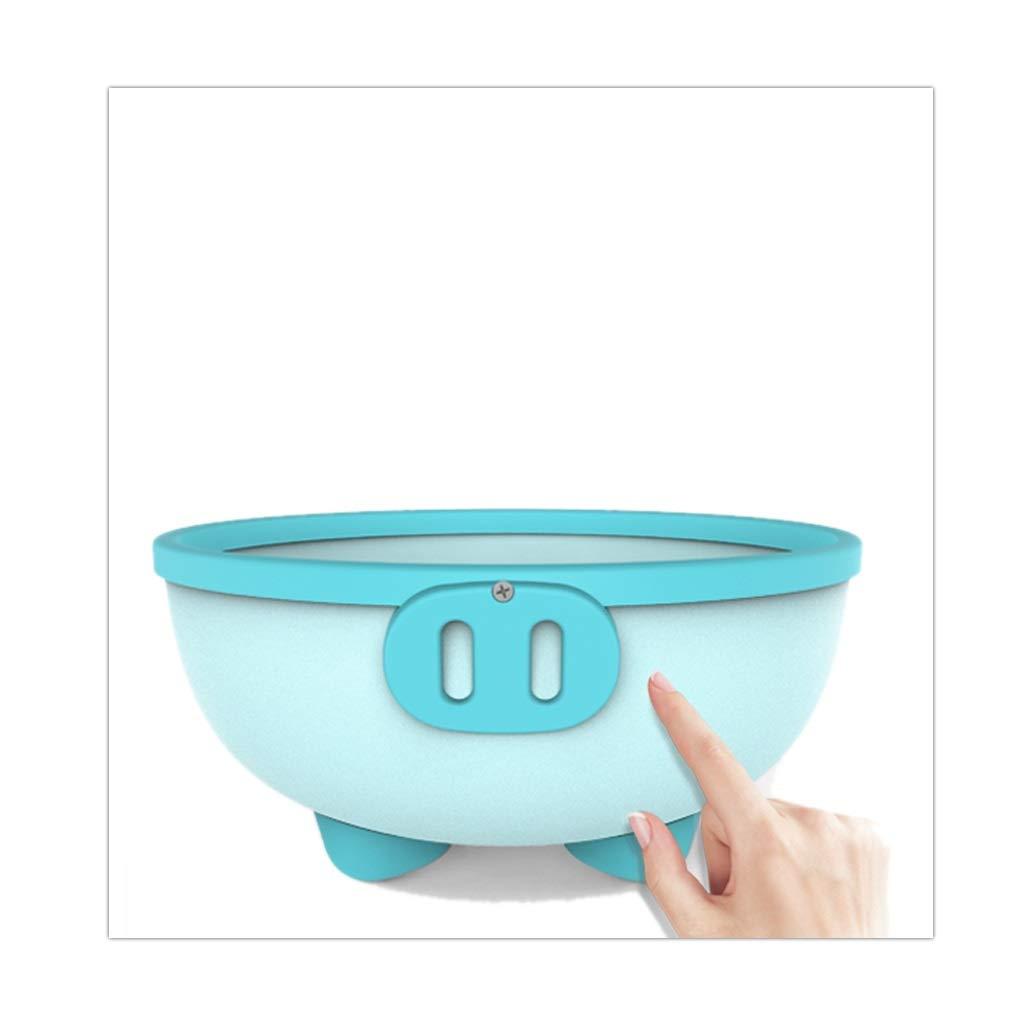 ZHAO ZHANQIANG Purpose Baby Plastic Wash Basin, Thickened Anti-Skid High Capacity Cartoon Baby Washing Basin, Lovely Piggy, Blue by ZHAO ZHANQIANG (Image #4)