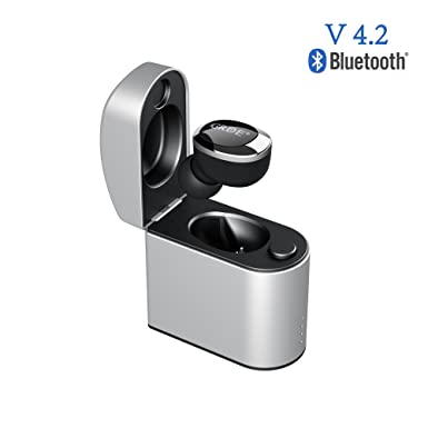 Mini Auricular Invisible Bluetooth V4.2 Auricular Inalámbrico in Ear con una Caja de Carga