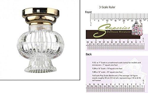 Houseworks, Ltd. Dollhouse Miniature LED Fancy Clear Ceiling Lamp