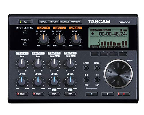 Tascam DP-006 6-Track Digital Pocketstudio Multi-Track Audio Recorder (Best Portable Audio Recorder For Music)