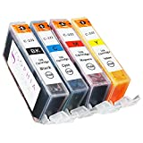 Sophia Global Compatible Ink Cartridge Replacement Set for Canon CLI-221 (Pack of 4: 1 CLI-221 Small Black, 1 Cyan, 1 Magenta, 1 Yellow)