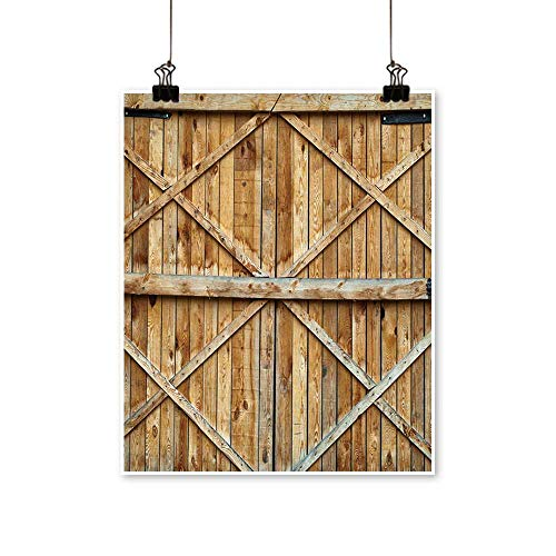(Artwork for Home Decorations Traditional Wooden Door with Cross Home Decor Wall Art,20