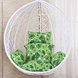 rattan swing chair hanging garden patio indoor outdoor egg chair with stand cushion,garden (color :