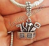 EWT Tool Box Tools, Hammer, Construction, Handyman, handy woman, toolbox, carpenter charm Pendant - FITS ALL DIY bracelet necklaces