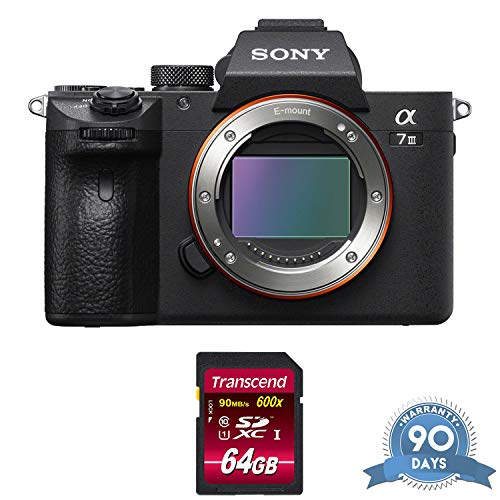 Sony Alpha a7 III Mirrorless Digital Camera (Body Only) - with Memory Card - RENEWED (Sony Media Box)