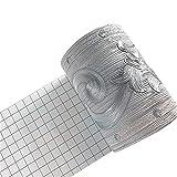 Taamall Simplemuji Silver Flower 3D Wallpaper