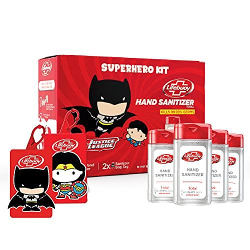 Lifebuoy Hand Sanitizer Super Hero Kit | Batman & Wonder Woman | Anti bacterial 70% Alcohol based Sanitizer | perfect…
