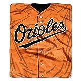 MLB Baltimore Orioles Jersey Raschel Throw, 50 x 60-Inch