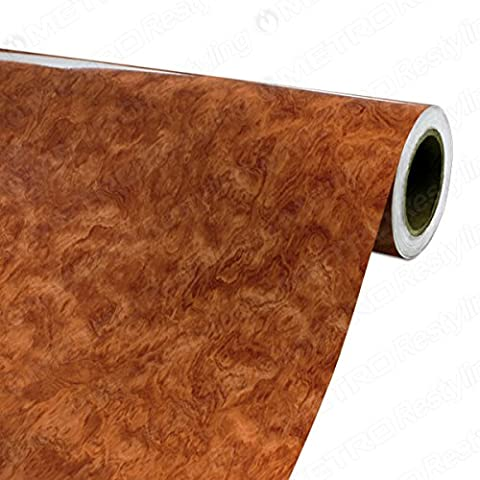 4ft x 10ft (48in x 120in) (40 Sq/ft) 3M DI-NOC Gloss Bubinga Wood Grain Vinyl Film Series - Bubinga Body