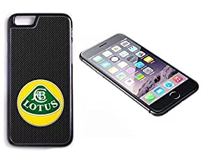 iPhone 6 Plus Black Plastic Hard Case with High Gloss Printed Insert Lotus Carbon