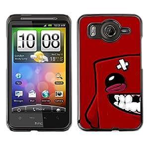 CASEX Cases / HTC G10 / Red Blob Face # / Delgado Negro Plástico caso cubierta Shell Armor Funda Case Cover Slim Armor Defender