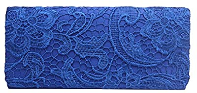 Iblue Lace Flower Evening Party Clutch Bridal Weeding Bag Prom Handbag Purse #C08